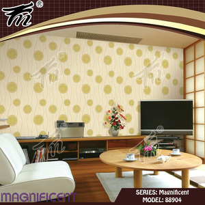 High Quality PVC/Vinyl Waterproof Fluorescent Wall Paper