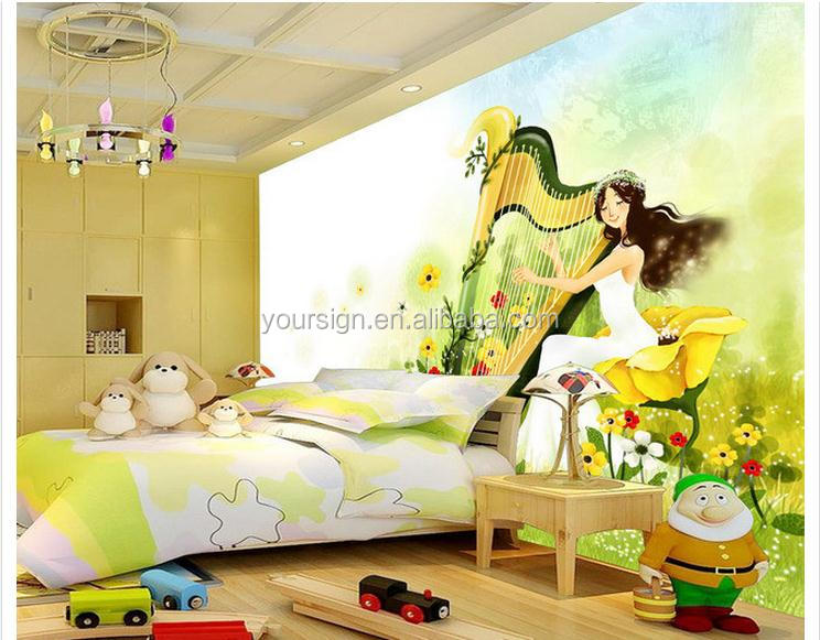 carton decoration 3 d wallpaper bedroom personalized and colorful
