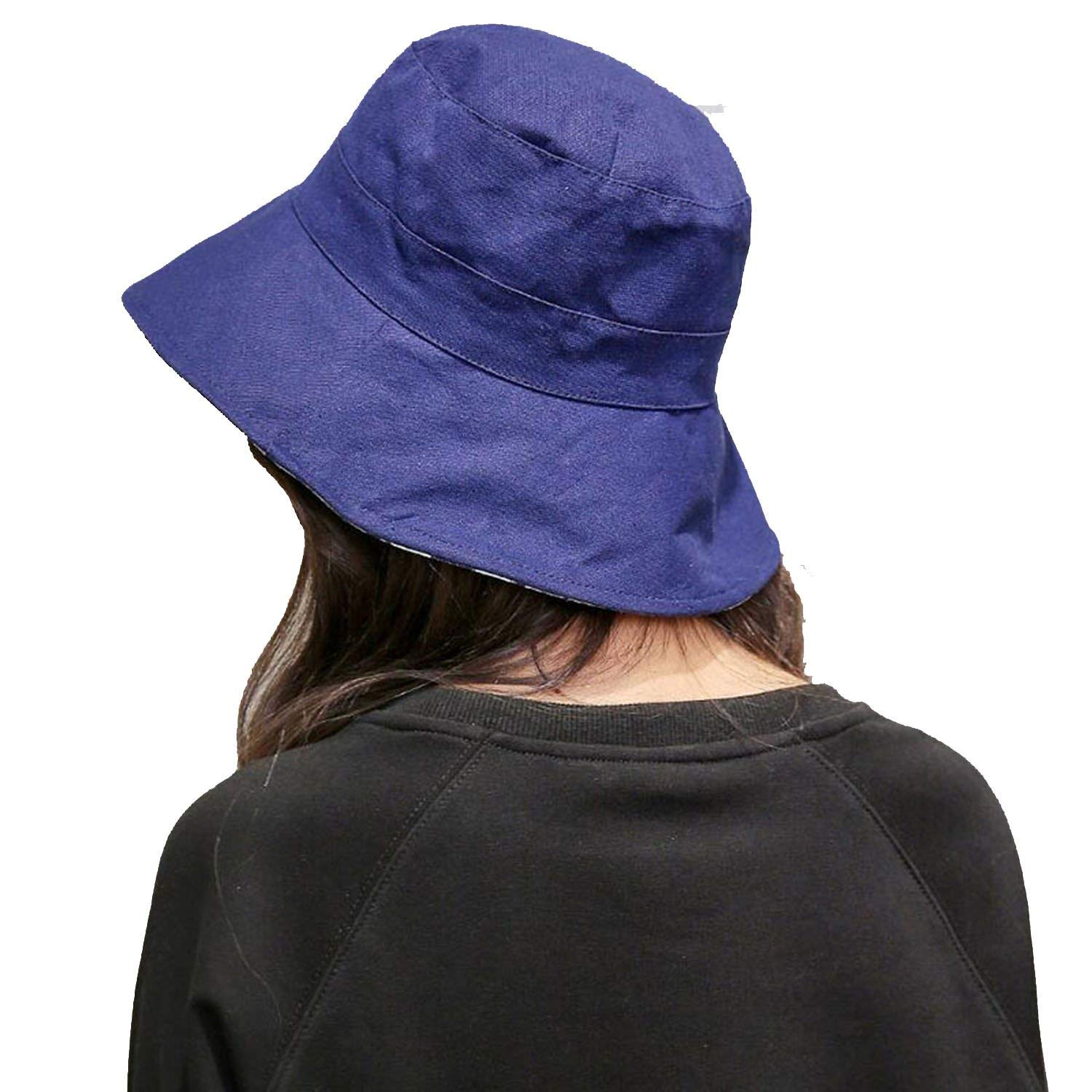 7a36340f89723 Get Quotations · 2018 Hat Ladies Casual Double-Sided Fisherman Hat Fashion  Flat top Visor Sun Protection Cap