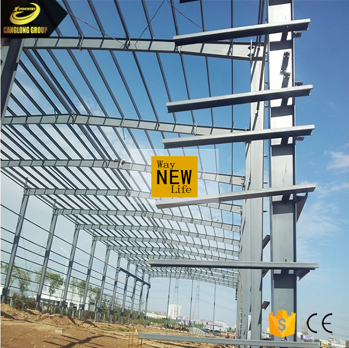 Cheap affordable building prefab light steel structure workshop