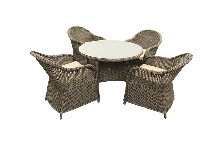 Dependable performance Outdoor modern Metal Corner dining table set modern Luxury Glass Dining Set