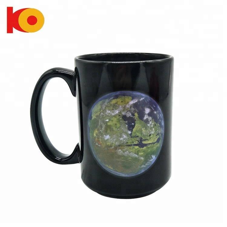 Heat Sensitive Changing Color magic coffee ceramic mug