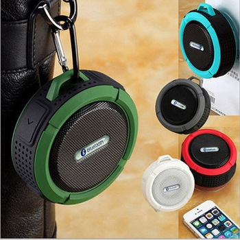 C6 waterproof portable bass speaker outdoor handfree multimedia speaker active mini bass speaker with FM radio
