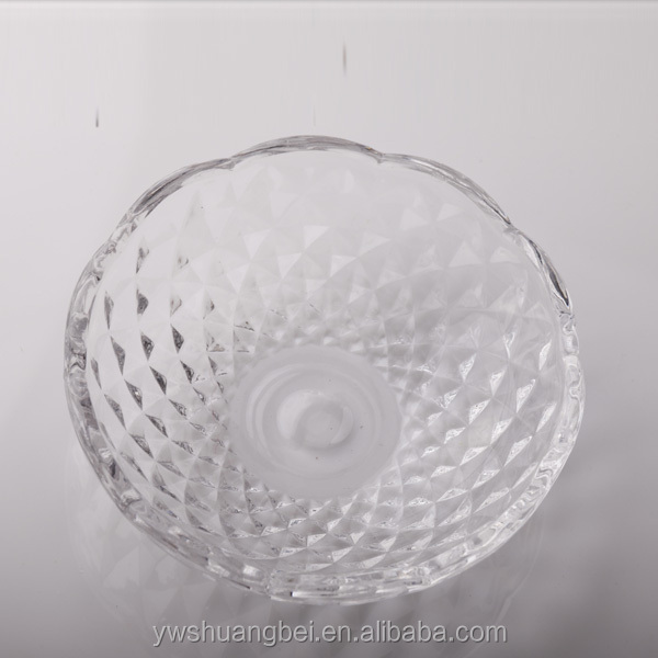 Wholesale Cheap Stock Round Glass Fruit Dish, Glass Plate For Promotion