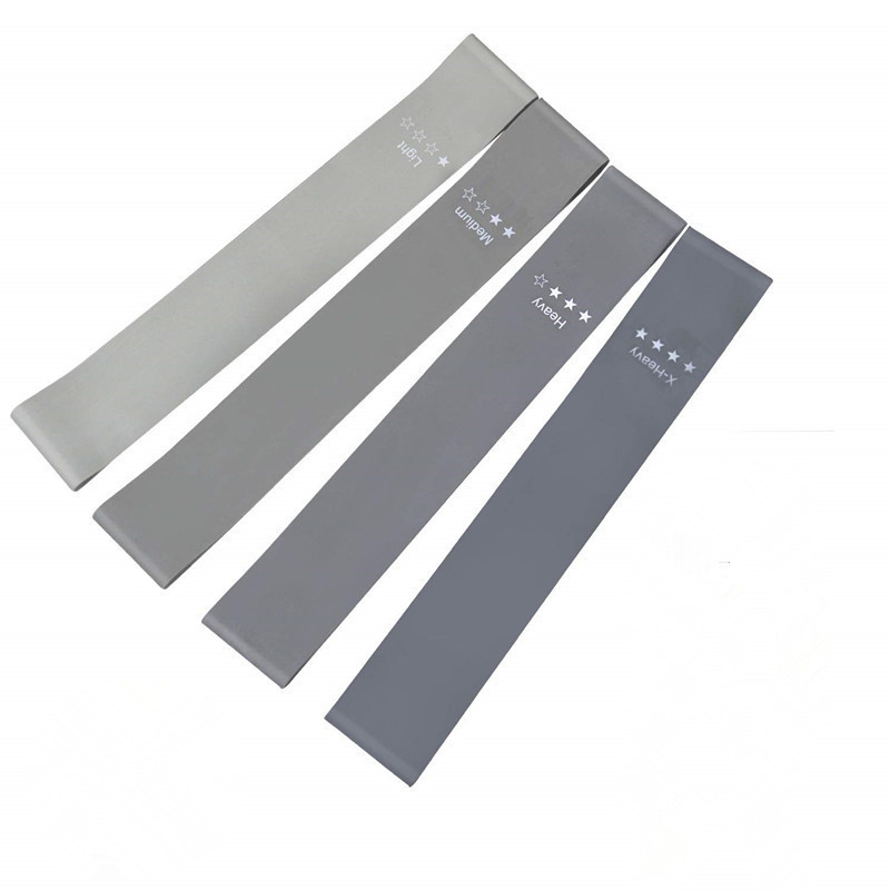 Set of 4 Strength Training Grey <strong>Resistance</strong> Band