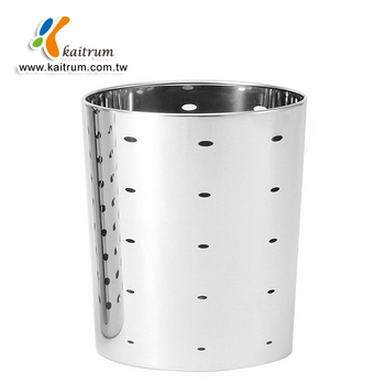 hotel design project stainless steel cone shape waste garbage paper bin - Stainless Steel Hotel Design