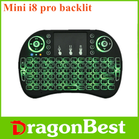2017 Best price of Mini i8 Pro air mouse backlit mx3-L keyboard with good quality