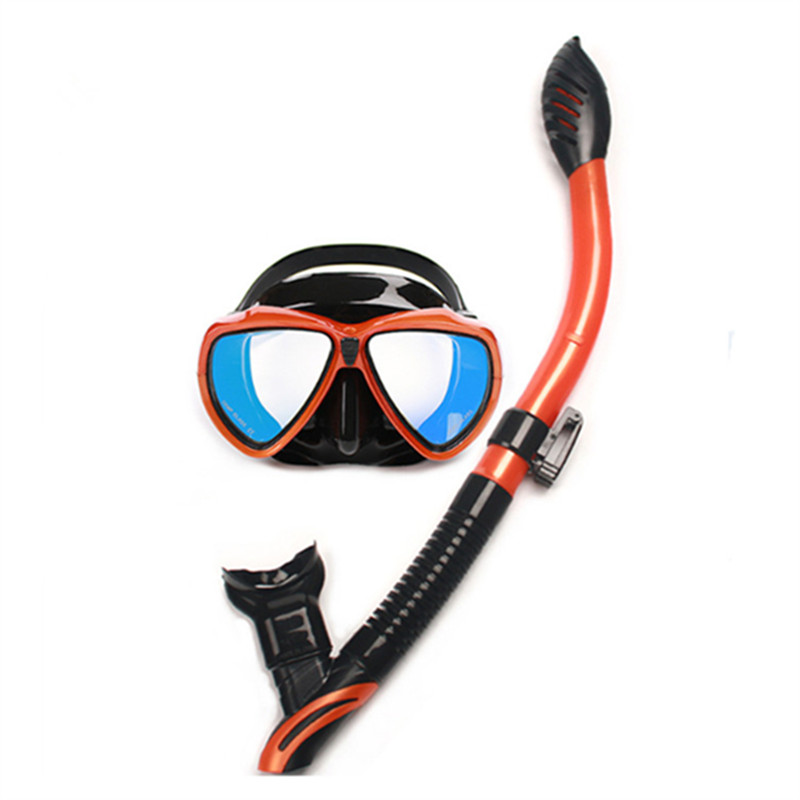 New scuba junior full dry diving snorkel mask sets for gopro