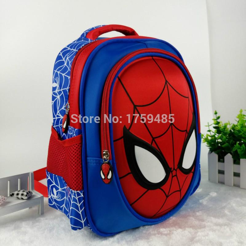 3d School Bags For Boys Waterproof Backpacks Child Spiderman Book Bag Kids Shoulder Satchel Knapsack