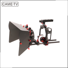 Profesional Film Shooting Kamera DSLR Rig DSLR Kandang Untuk GH4 CAME-TV & <span class=keywords><strong>SONY</strong></span> A7s & 5D Mark <span class=keywords><strong>III</strong></span>