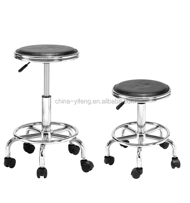Modern Design Swivel Backless Bar Stool With Wheels