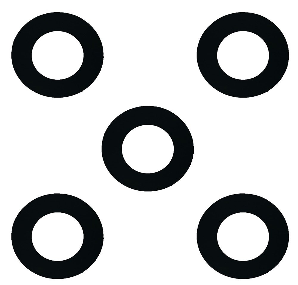 """Sterling Seal CRG7000.100.031.300X5 7000 Grafoil Ring Gasket 1"""" Pipe Size, 1/32"""" Thick, Pressure Class 300#, 0.155"""" Height, 2.62"""" Length, Expanded Flexible Graphite, Black (Pack of 5)"""