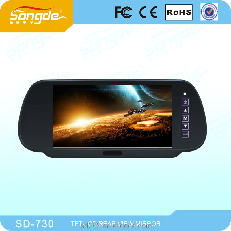 7 /9inch TFT LCD rear view mirror monitor with usb/sd card reader