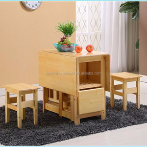 Multifuctional bamboo extendable wood folding dining table