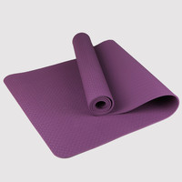 Yoga Mat TPE Eco Friendly Non Slip Fitness Exercise Mat with Carrying Strap-Workout Mat for Yoga