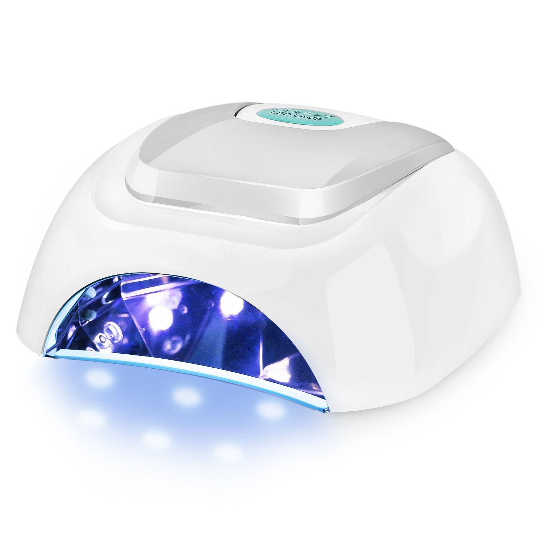 Luxspire Professional 42W LED UV Nail Dryer Gel Polish Lamp Light Curing Nail Art Manicure Machine with Auto Sensor, White