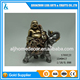 Gold Resin Laughing Buddha Riding on Elephant Feng Shui Statue sculpture Feng Shui home decoration desktop