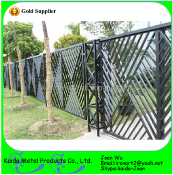 Manufacturer Of Wrought Iron Garden Fence Design From China. Hebei