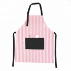 gabardine cotton and polyester cheap christmas cotton kitchen women pink apron