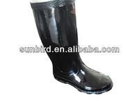 Good Quality Shiny Black Long Rubber Rain Boots/gumboots ...