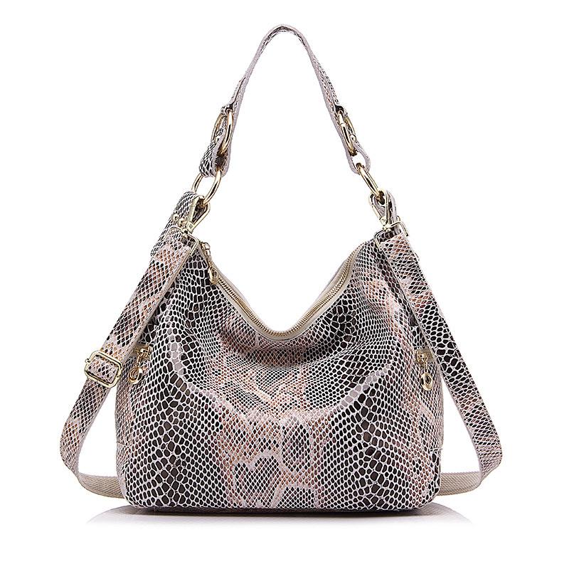REALER натуральная кожа сумка женский ,классический серпантин печать на ремне женская сумки,большая сумка через плечо для женщин, сумка на пле...(Китай)