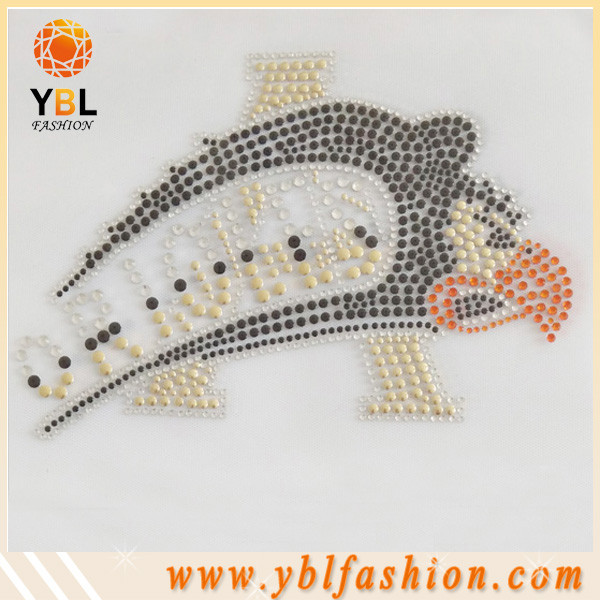 Factory price clothing falcons rhinestone iron on transfer