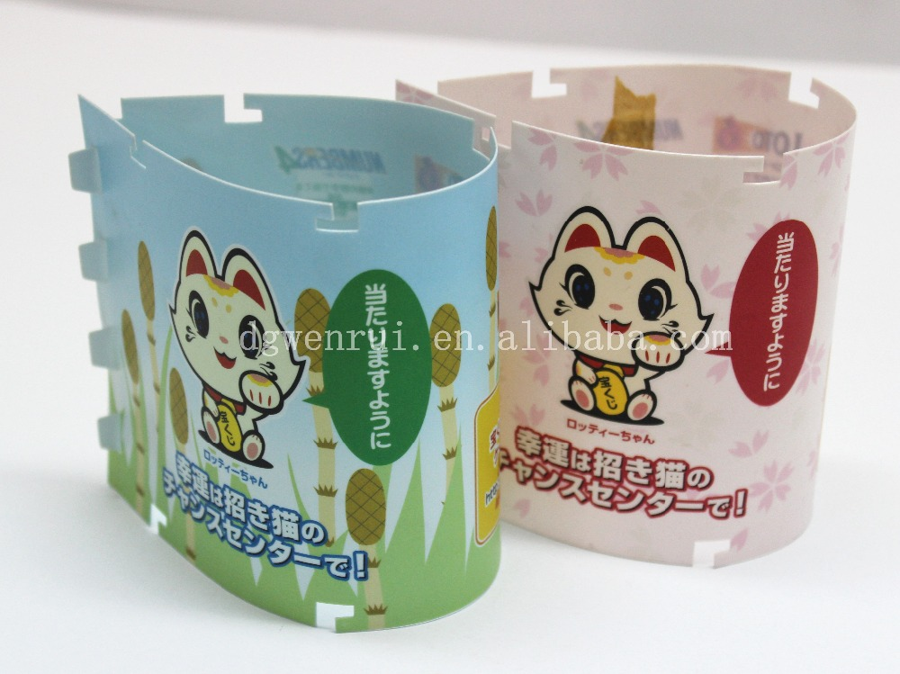 Cute cartoon plastic PP pen holder with standard quality