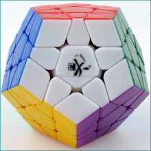 Megaminx Stickerless White DaYan Brand Plastic Cube Puzzle Educational Toys for kids