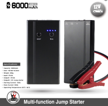 High Quality 12V Portable Boost Safety 6000mAh Slim Car Jump Starter