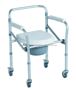 Lightweight Shower Commode Chair With Wheels And Cover