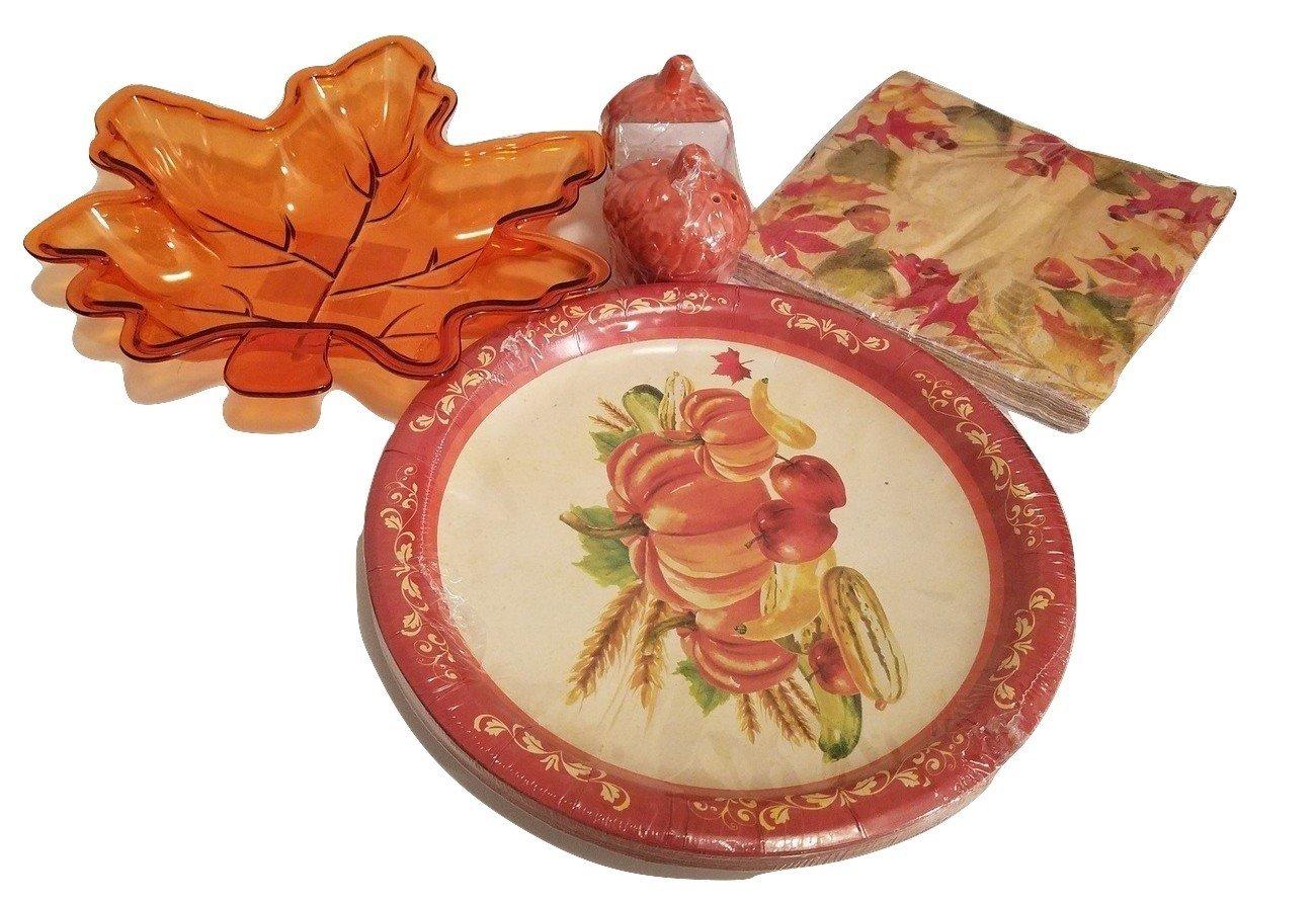 Get Quotations · Thanksgiving Acorn Salt u0026 Pepper Shaker Napkins Pot Holder Kitchen Paper Plates Platter Tray Harvest Decor  sc 1 st  Alibaba & Cheap Autumn Plates find Autumn Plates deals on line at Alibaba.com