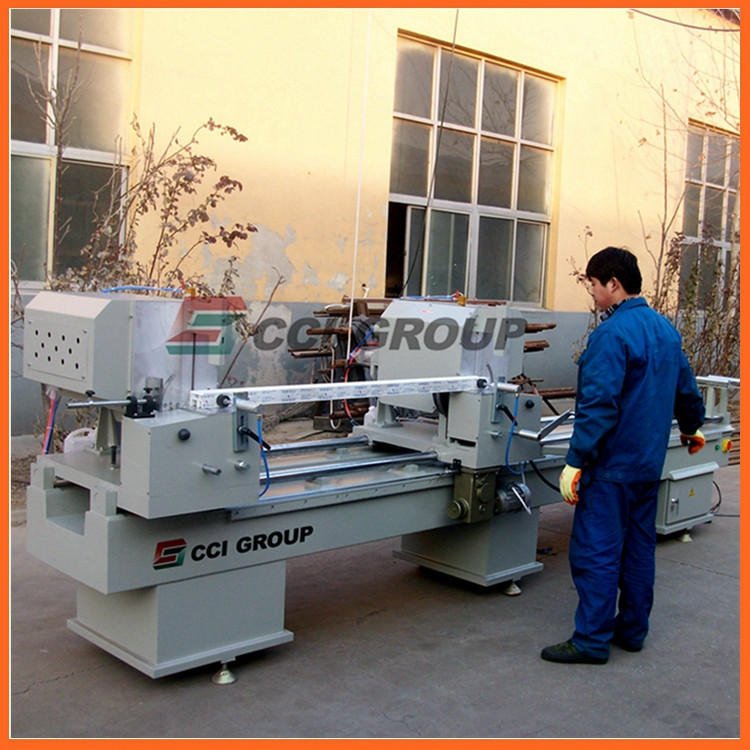 LJZ2-450X3700 aluminum window door double mitre saw fabrication machine