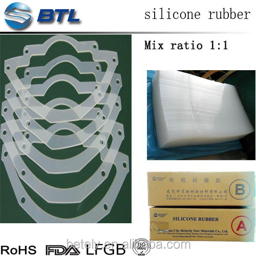 Factory custom cheap price solid silicone rubber for colorful o-rings/roller