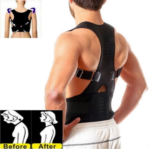 CE & FDA Aprovou Magnetic Therapy Posture Corrector Back Support Brace para Woman & Man