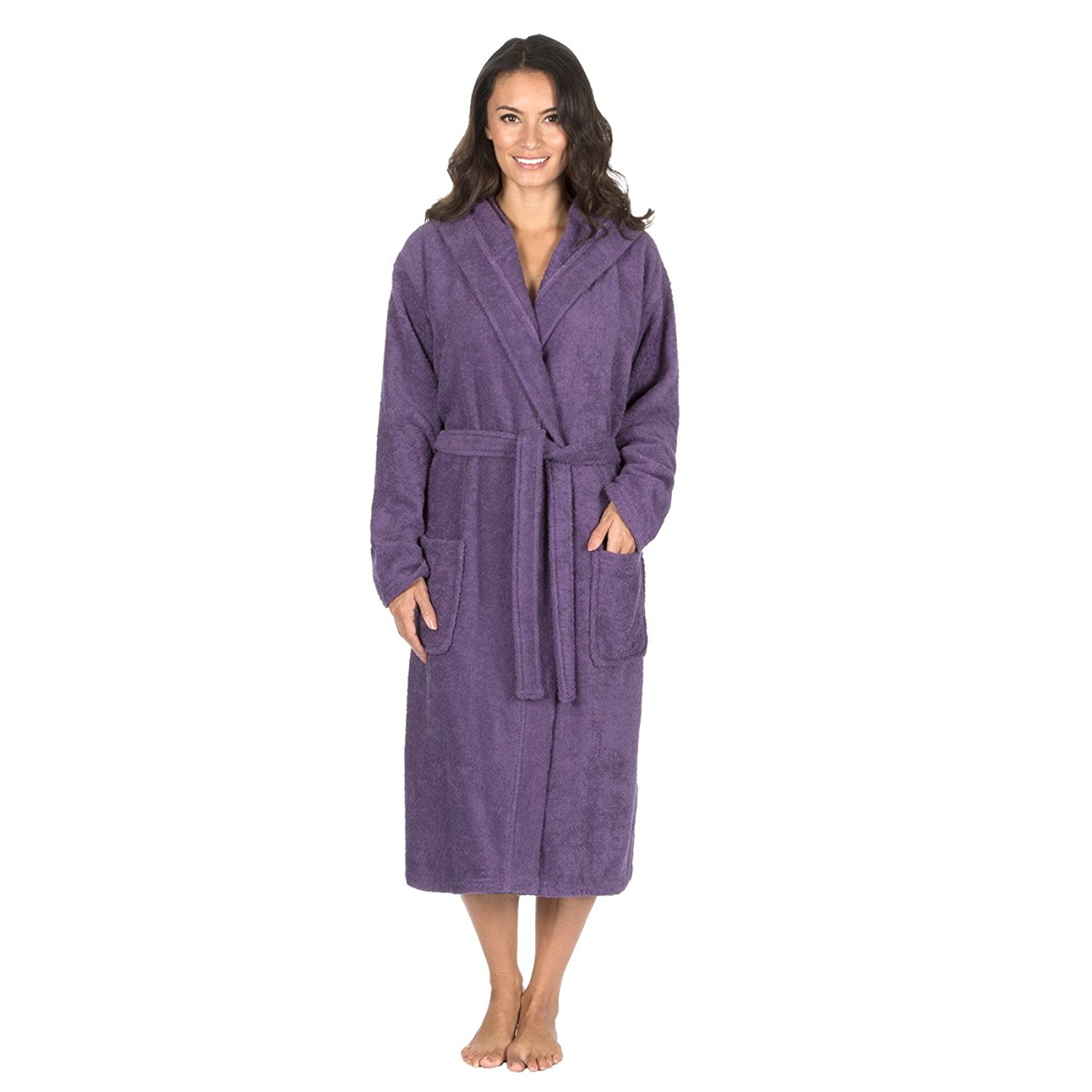 a01b088385 Get Quotations · Forever Dreaming Ladies 100% Cotton Terry Towelling Hooded  Robe