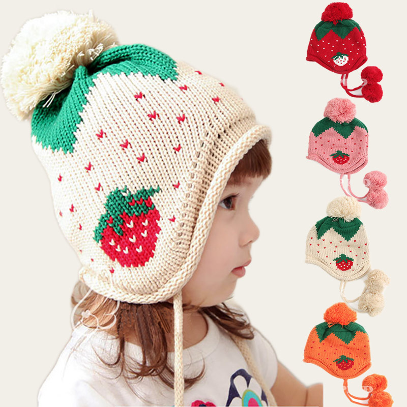 3a3497d2677 2015 Autumn Winter Children Knitted Hat Child Wool Caps Infant Baby Winter  Hats For Toddler Baby Girls Boys Cap Sweet Brand