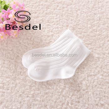 Cotton Loose Top Socks For Children Plain White Baby Socks Buy