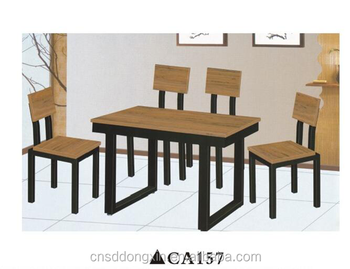 Wood furniture home use dining table and chair set for 4 seater