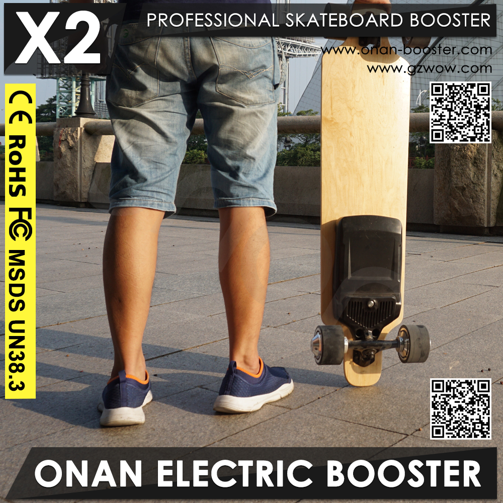 Wireless Control Electric Fish Board Converted By Normal Skateboard