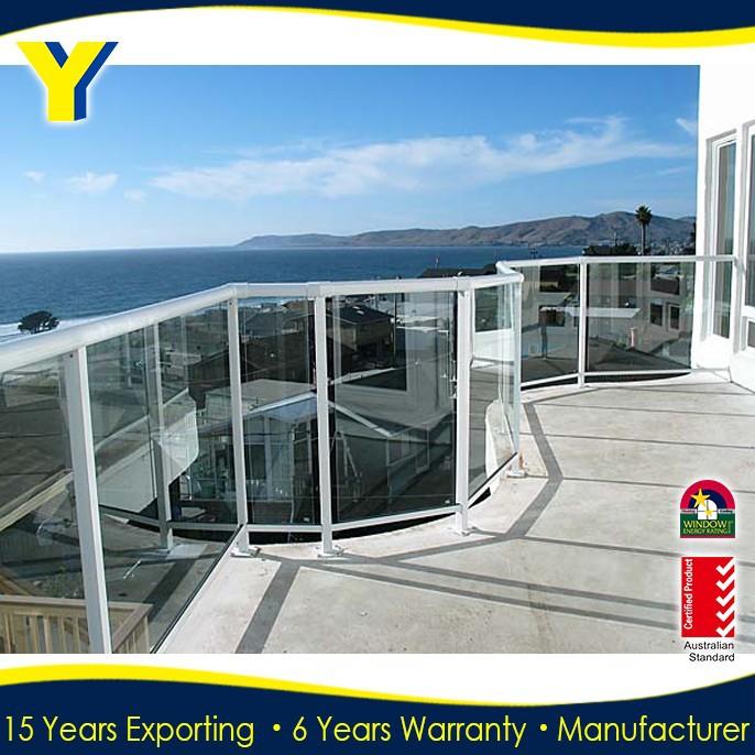 Aluminiumrahmen fotos, guten rahmen geländer glas für balkon ...