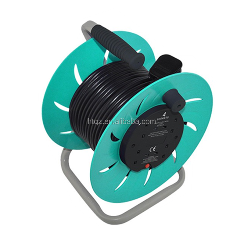 small retractable electric extension cord reel