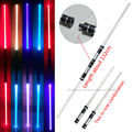 2 pcs lot Star Wars Lightsaber Led Flashing Light Sword Toys Cosplay Weapons Can Mutual percussion