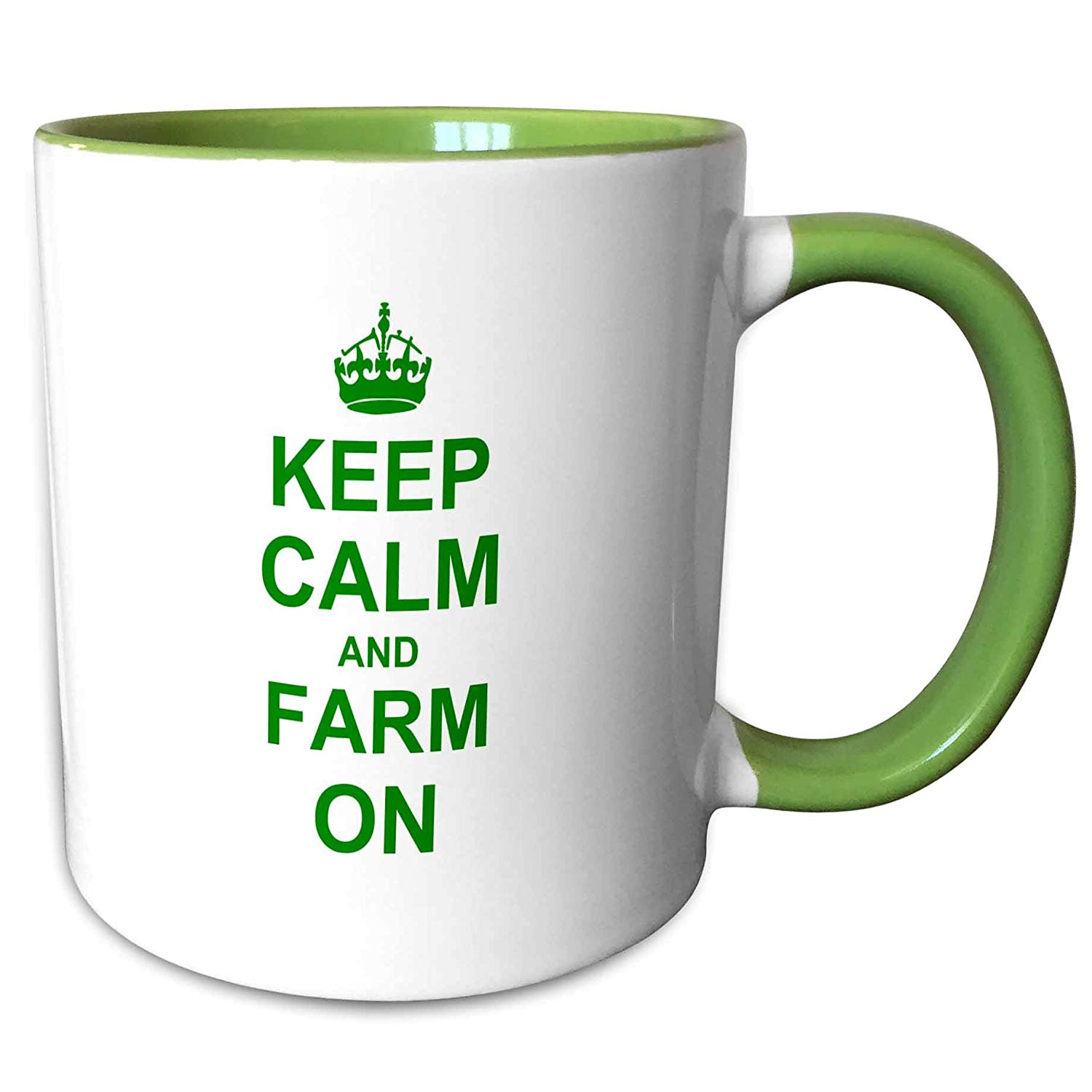 3dRose wb/_157717/_1Keep Calm and Farm on-carry on farming-gift for farmers-Green motivational motivating calming Sports Water Bottle 21 oz White