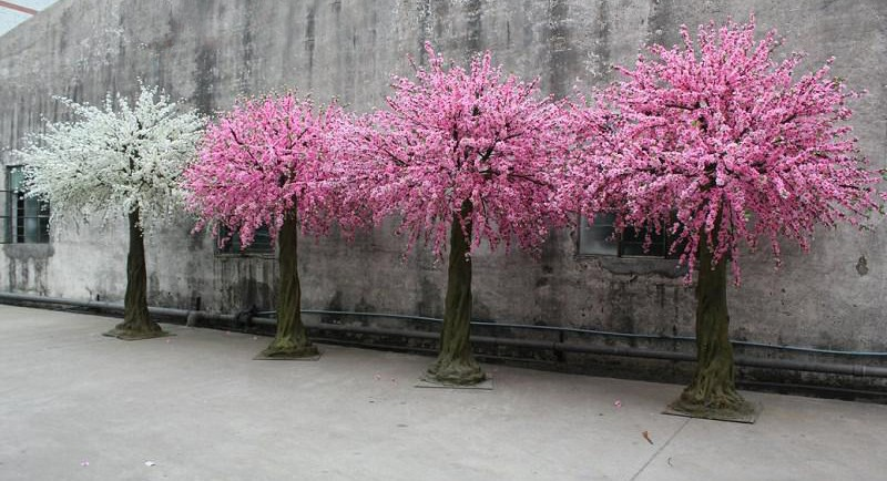 2 5 m large fiber glass decor wedding artificial cherry for Cherry trees for sale