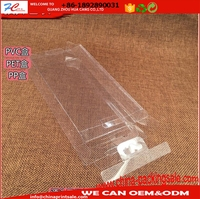 Factory direct Custom Clear PVC pet pp Plastic Packaging Box For Phone Case Cover in stock cheap price