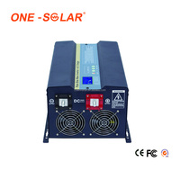High efficiency 1000w micro solar inverter 12v 24v to 220v with built in MPPT controller