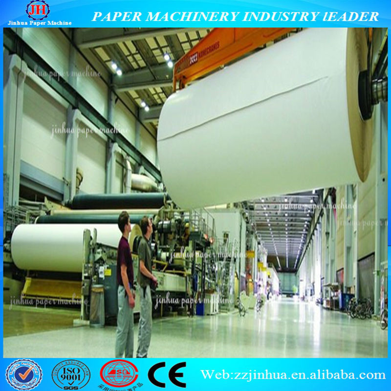 Daily capacity 30 tons cultural paper/A4 A3 paper/offset paper printing making machine