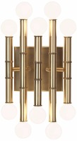 "1031-8 mid-century style globe candelabra bulbs A strikingly modern deep patina 12"" High Patina Bronze Wall Sconce"