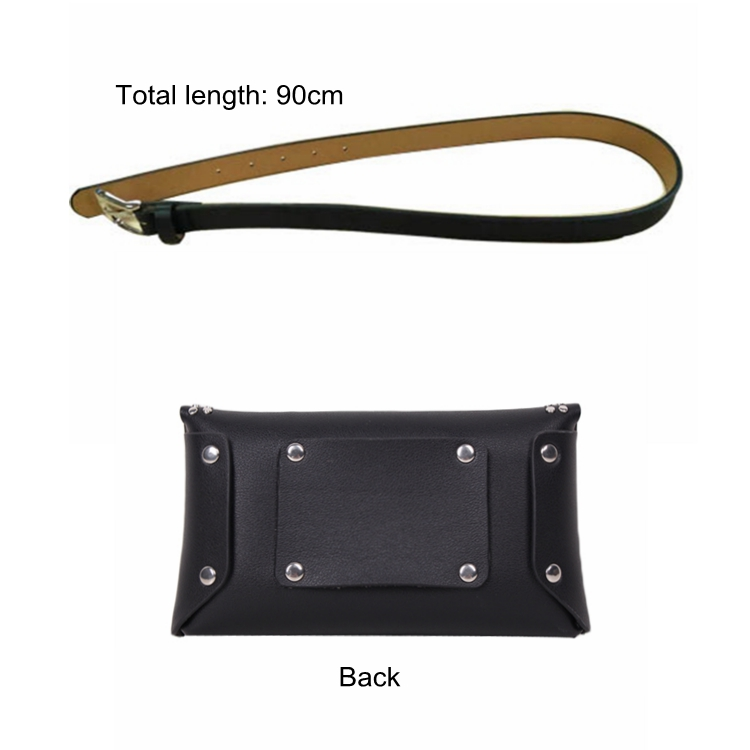 Heopono Hot Sale No Sewn Detachable Strap Good Quality Custom Mens Women Unisex Sport PU Leather Fanny Pack Waist Bag