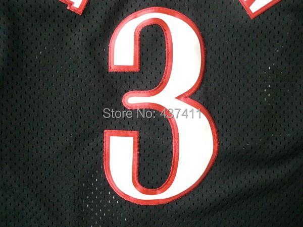 best website 38ba5 d510e Philadelphia #3 Allen Iverson White Black Red Rainbow Blue ...